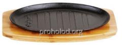 Тарелка порционная чугунная (овал рифленый 27х18)