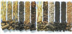 Pellets, granules fuel of coniferous breeds of a