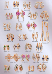 Product model - earrings with stones