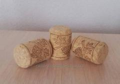 Corks, caps and other packing materials