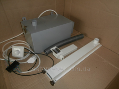 Vacuum cleaner built in, dental with adjustment of