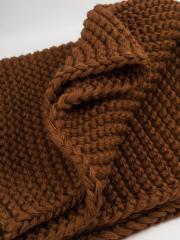 Collar knitted brown Miya