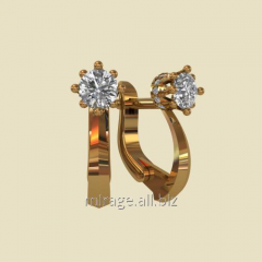 Model wax - earrings of diamond group