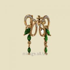 Model wax - earrings of zirconium group
