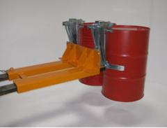Captures for barrels on a fork loader, pr-in