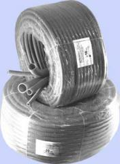 Electroinsulating gofrotruba from nonflammable