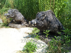 "Sculptures ""Wild boars"