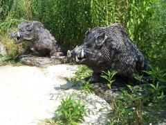 """Sculptures """"Wild boars"""