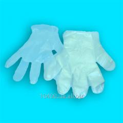 One-time gloves polyethylene, Kiev
