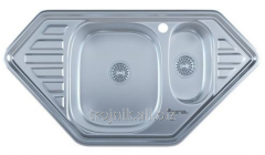 Sink for kitchen a cut-in trapeze 950 x 500 x