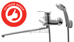 The mixer for a bathroom a long gander with the
