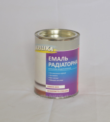 Enamel radiator white Akrilika