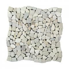 Мозаика Стар. МКР-ХС (хаотичная) 6 мм Mix White