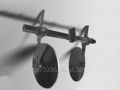 Дисковый окучиватель для мотоблока двойной с 2-мя