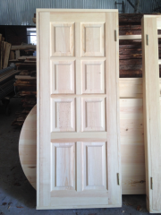 Doors are wooden continuous