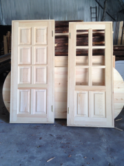 Doors interroom wooden continuous and with glass