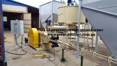 Пресс брикетирующий для древесины ПБУ-070-800