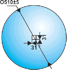 Диск Джон Дир (John Deere), сфера, квадрат