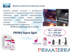 The concentrated detergent for removal of PRIMA
