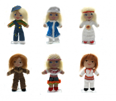 Soft dolls, toys for children, souvenirs and