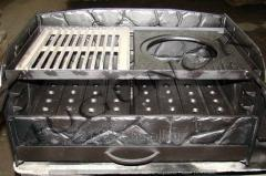 Pig-iron insert for a barbecue of cues