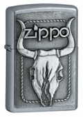 Lighter 20286 petrol BULL SKULL EMBLEM
