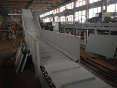 Conveyor line of sorting of MSW
