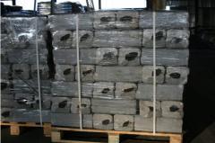Briquettes peat for household needs. Briquettes