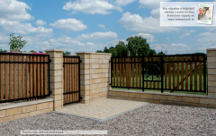 Blocks and slabs for fences BRADSTONE TRAVERO-Múr