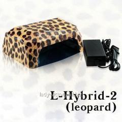 УФ лампа для сушки ногтей L-Hybrid-2 (LED+CCFL), леопардового цвета, 36Вт,
