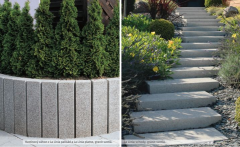 LA LINIA blocks from a natural stone for garden