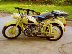 Motorcycles of a retro, M-72, K-75-, MT-12, MT-16