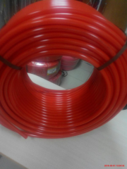 Pipe for a heat-insulated floor of PE-RT