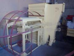 Охладитель гранулы. Охладительная колонна с просеивателем.