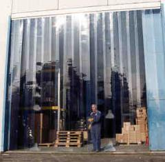 Thermal insulation of rooms PVC curtains