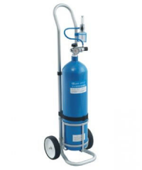Cylinder oxygen with the cart for transportation