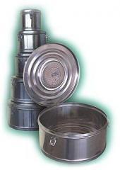 Коробка стерилизационная круглая с фильтром КСКФ-18, объем 18 дм3, диаметр 390 мм