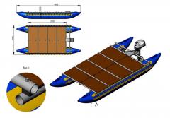 Catamaran motor inflatable in a set 450/50VM