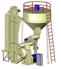 Granulator of OGM-1,5 sawdus