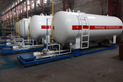 The module for filling of cars with the liquefied AGZP gas