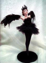 Doll Black swan of handwork, doll collection,