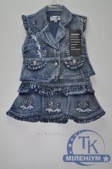 Юбка с жилеткой джинсовая для девочки C.R.X. рост