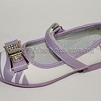 Туфли для девочки белые с сиреневым 27 размер