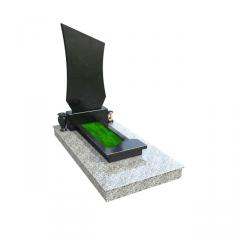 Памятник из серого и черного гранита