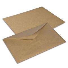 Post envelope of C5 162*229 mm brown Kraft, code: