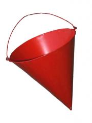 The bucket is fire conical, an art. 9-038