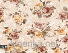 Cloth detachable beige with roses, an art.