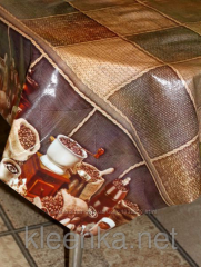 Oilcloth silicone opaque cappuccino Coffee, art.