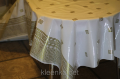 Oilcloth silicone white in the Greek style with a