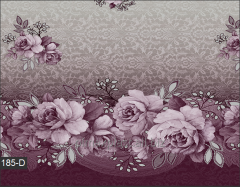 Cloth oil-cloth on a table in lilac color,